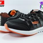 รองเท้าผ้าใบ วิ่ง บาโอจิ ชาย รุ่นDK99409 สีดำ-ส้ม เบอร์41-45