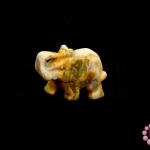 หินหยกน้ำผึ้ง ช้าง 20X37มิล (1ชิ้น)
