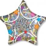 ลูกโป่งฟลอย์นำเข้า Happy Birthday Stars / Item No. AG-13721 แบรนด์ Anagram ของแท้