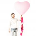 """ลูกโป่งหัวใจจัมโบ้ไซส์ใหญ่ 36"""" Latex Balloon HB Balloon PINK 3FT สีชมพู/ Item No. TQ-44445 แบรนด์ Qualatex"""