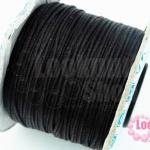เชือกค๊อตต้อน สีดำ 0.5มิล(1ม้วน)(100หลา)