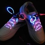 เชือกผูกรองเท้าไฟ LED สีแดง/สีฟ้า Shoelace - LED Red/Blue color