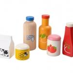ของเล่นไม้ ของเล่นเด็ก ของเล่นเสริมพัฒนาการ Food & Beverage Set ชุดเครื่องดื่ม (ส่งฟรี)