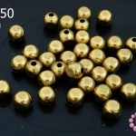 ลูกปัดโลหะ ทองเหลือง กลมเหลี่ยม 6มิล (1ขีด/100กรัม)