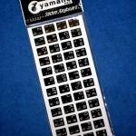 สติ๊กเกอร์คีย์บอร์ด ไทย/อังกฤษ พื้นดำอักษรขาว YAMANO