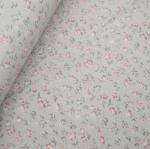 ผ้าคอตตอน ญี่ปุ่น ลายดอกไม้เล็กๆ น่ารัก โทนเขียวอ่อน