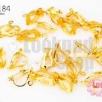 ต่างหูหนีบ สีทอง 6X10 มิล(10คู่)