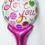 บอลลูนเป่าลม พิมพ์ลาย LOVE YOU / Item No. TL-M010 สำเนา