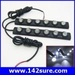 LFC024 ไฟตัดหมอก เดย์ไลท์LED จำนวน1คู่ แสงสีขาว 2*6 LED DRL Driving Daytime Running DayLight สำหรับติดตั้งรถยนต์