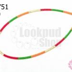 สร้อยคอสำเร็จ โทนสีแดง-ส้ม-เขียว 4มิล(1เส้น)