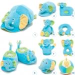 ของเล่นเสริมพัฒนาการ Gift set ชุดของขวัญ สำหรับเด็กอ่อน Set น้องช้าง สีฟ้า (ส่งฟรี)