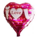 ลูกโป่งฟลอย์รูปหัวใจ พิมพ์ลาย I LOVE YOU สีชมพู ไซส์ 18 นิ้ว - I Love You Heart Shape Foil Balloon / Item No. TL-E036
