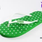 รองเท้าแตะ Hippo Bloo ฮิปโป บลู ลายจุด สีเขียว เบอร์ 9,9.5,10