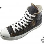 รองเท้าผ้าใบ Converse All star scratch hi black (รุ่น ยีนส์ฟอก ริ้ว)