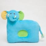 หมอนเด็ก Head protection pillow หมอนหลุม หมอนหน้าสัตว์ หมอนหน้าช้าง สีฟ้า