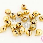 กระดิ่งพม่า ทองเหลือง ปากกลม 6มิล(10ชิ้น)