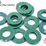 ห่วงโลหะ สีเขียวเข้ม 18มิล(1ขีด/100กรัม)