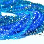 คริสตัลจีน 4 มิล สีฟ้า ทรง ซาลาเปา