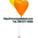 """ลูกโป่งหัวใจ สีส้ม ไซส์ 11 นิ้ว แพ็คละ 10 ใบ (Heart Latex Balloon - Orange Color 11"""")"""