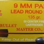 ลูกกระสุน 9มม. LRN Bullet