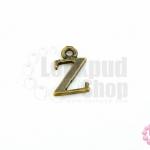 จี้ทองเหลือง ตัวอักษร Z 9X14 มิล(1ชิ้น)