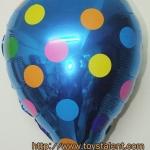 ลูกโป่งฟลอย์รูปหยดน้ำ สีฟ้าลายจุด - Water Drop Shape Foil Balloon Polka Dot Blue Color / Item no. TL-G035