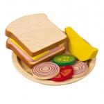 ของเล่นไม้เสริมพัฒนาการเด็ก Sandwich Meal (ส่งฟรี)
