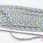 เชือกถักเปีย สีน้ำเงินอ่อน-ส้ม กว้าง 5มิล(1หลา/90ซม.)