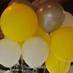 """ลูกโป่งกลม สีเหลือง ไซส์ 18 นิ้ว จำนวน 1 ใบ (Round Balloon - Standard Yellow Color 16"""")"""