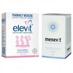 วิตามินสำหรับเตรียมตั้งครรภ์ Elevit (100 เม็ด) และ วิตามินเตรียมความพร้อมสำหรับว่าที่คุณพ่อ Menevit (90 เม็ด) (แพ็คคู่สุดประหยัด) แถมฟรี!! เทสตกไข่ 5 ชิ้น