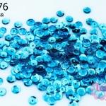 เลื่อมกลม สีฟ้าเหลือบ 5มิล (5กรัม)