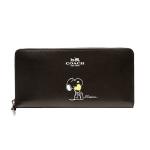 กระเป๋าสตางค์ COACH X PEANUTS ACCORDION ZIP WALLET IN CALF LEATHER F53773