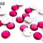 เพชรแต่ง กลม สีชมพูอมม่วง มีรู 10มิล(20ชิ้น)