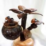 โคมไฟกะลามะพร้าว นกน้อยบนต้นไม้ Coconut Shell Birds and Tree