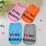 เสื้อยืดI love mommy ชมพูไซด์ XS
