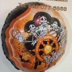 ลูกโป่งฟลอย์ Happy Halloween โครงกระดูก - Happy Halloween Bone Foil Balloon / Item No.TL-A045
