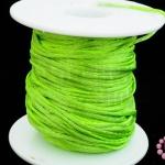 เชือกหางหนู สีเขียวอ่อน 2มิล(1หลา/90ซม.)