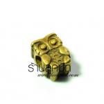 จี้ทองเหลืองรูปนกฮูกรูข้าง ขนาด 8 มิล ยาว 11 มิลราคา 10 บาท