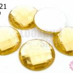 เพชรแต่ง กลม สีทอง ไม่มีรู 25มิล(5ชิ้น)