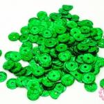 เลื่อมปัก กลม สีเขียวดิสโก้ 8มิล(5กรัม)