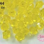 คริสตัลพลาสติก ทรงไบโคน สีเหลือง 8 มิล