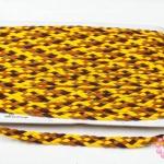 เชือกถักเปีย สีน้ำตาล-เหลือง กว้าง 10มิล(1หลา/90ซม.)