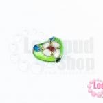 ลูกปัดกังไส หัวใจ สีเขียวอ่อน 10X12มิล(1ชิ้น)