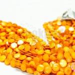 เปลือกหอย กลมแบน สีส้ม 12มิล (1เส้น/38เม็ด)