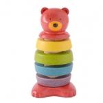 ของเล่นไม้ ของเล่นเด็ก ของเล่นเสริมพัฒนาการ Stacking Bear (ส่งฟรี)
