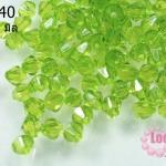 คริสตัลพลาสติก ทรงไบโคน สีเขียว 6 มิล