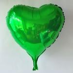 ลูกโป่งฟลอย์รูปหัวใจ สีเขียว ไซส์ 18 นิ้ว - Heart Shape Foil Balloon Green Color