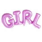 ลูกโป่งฟลอย์ข้อความ GIRL สีชมพู ติดกำแพง / Item No.TL-C032