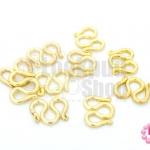 ตะขอตัว M สีทองเหลืองแท้ 10X12มิล (10ชิ้น)