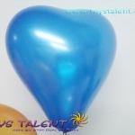 ลูกโป่งหัวใจ เนื้อเมททาลิก สีน้ำเงิน ไซส์ 6 นิ้ว แพ็คละ 10 ใบ